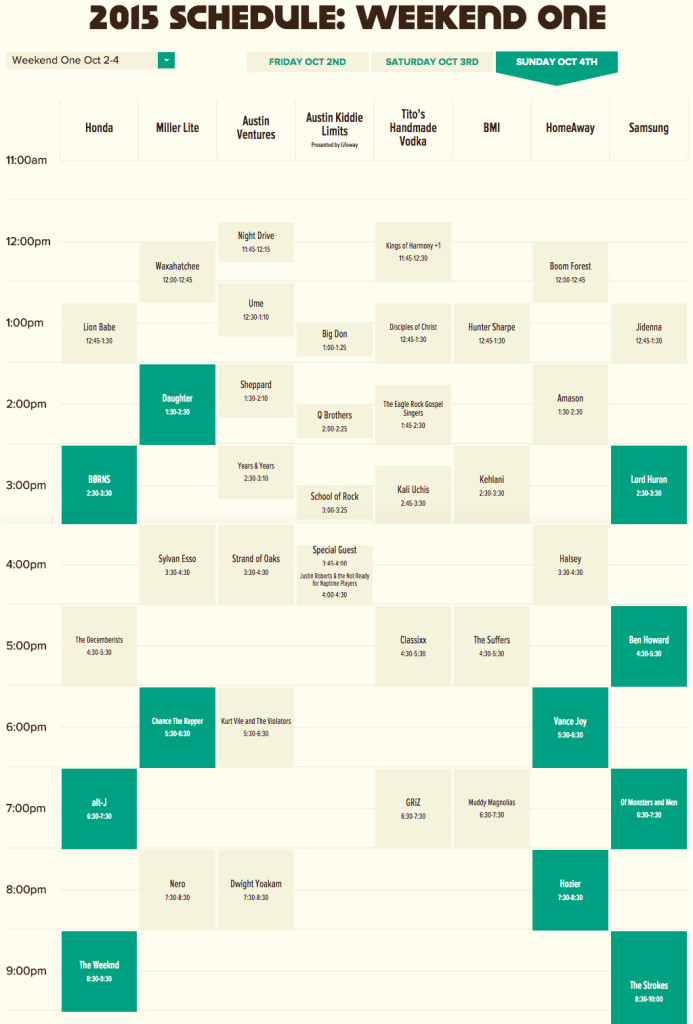 ACL-2015-Sunday-Schedule-Weekend-1