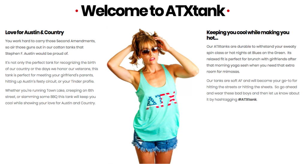 Welcome to ATX Tank Top